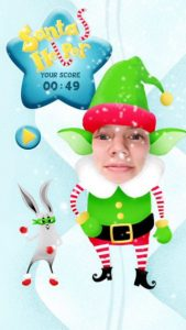 Snapchat game Santa's Helper